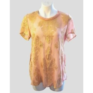 Aritzia Wilfred silk metallic tunic
